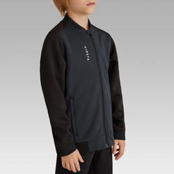 T100 Kids' Soccer Training Jacket - Black