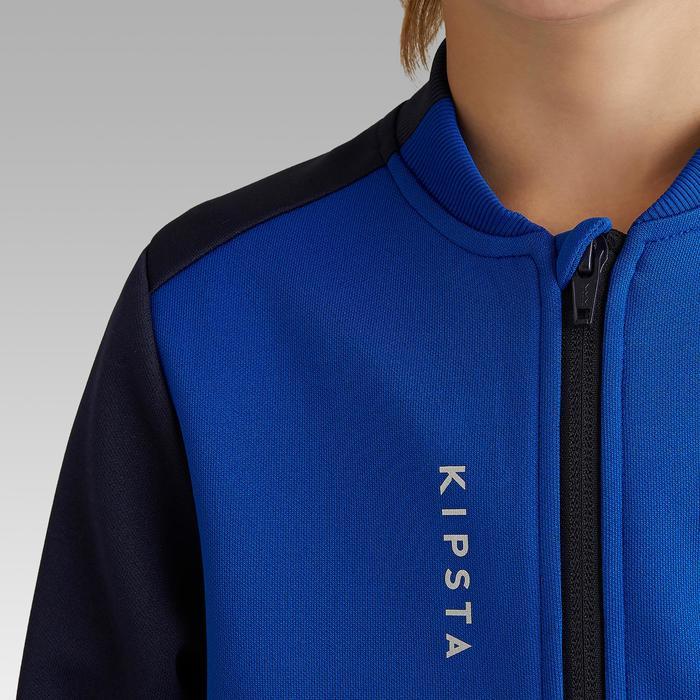 兒童款足球訓練外套T100-藍色