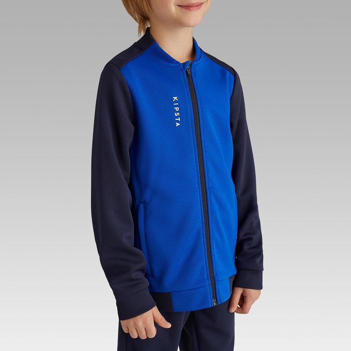 Trainingsjacke Fussball T100 Kinder blau