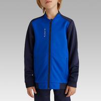 Дитяча тренувальна кофта 100 для футболу - Синя