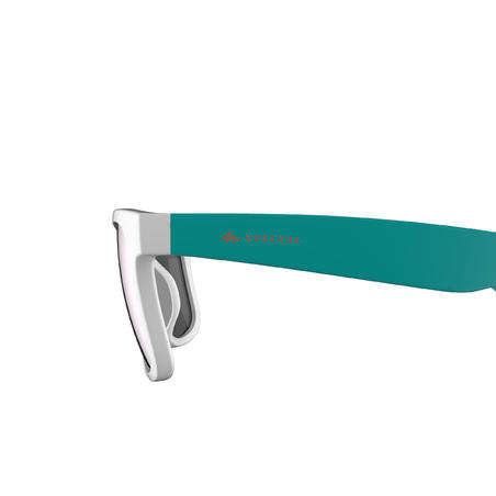 Kids' Category 3 Hiking Sunglasses (Ages 11-14 Years) MH T140 - White/Turquoise