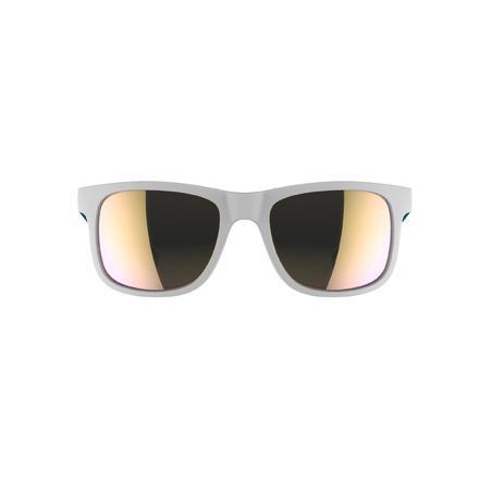 57195ce7a8 Lunettes de soleil randonnée enfant 11-14 ans MH T140 blanches/turquoise  cat3