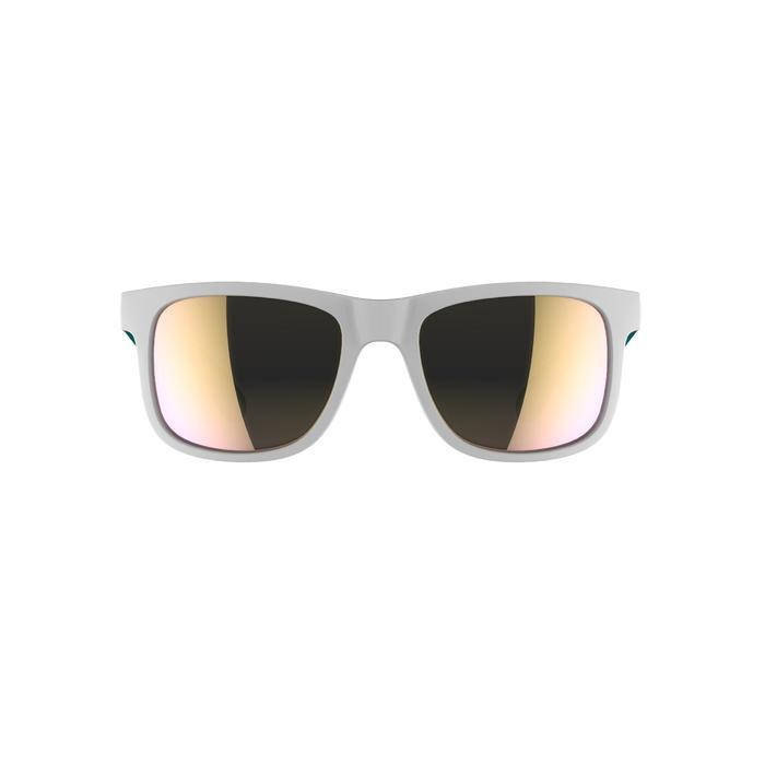 Lunettes de soleil randonnée enfant 11-14 ans MH T140 blanches/turquoise cat3