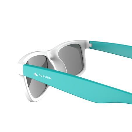 Дитячі сонцезахисні окуляри MH T140 для туризму, кат. 3 (11-14 р.) - Білі/Бірюза