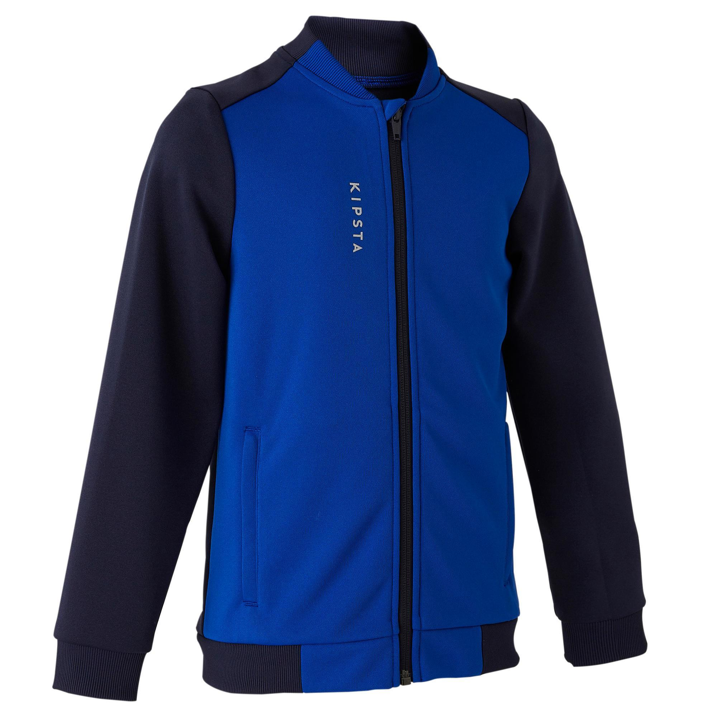 Kids' Football Training Jacket T100 - Blue