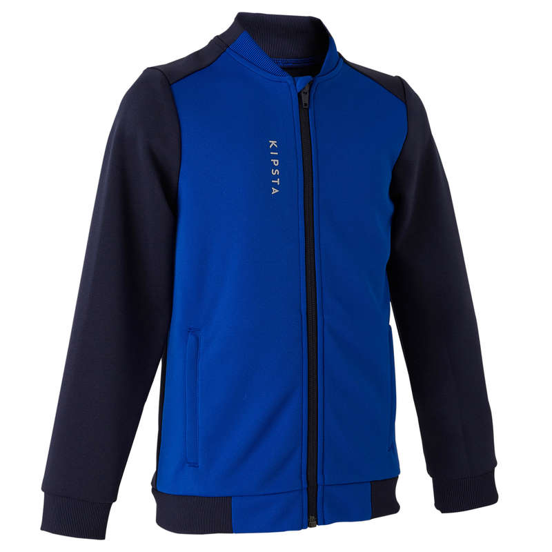 JR COLD WEATHER OUTFIT Football - Training Jacket 100 - Blue KIPSTA - Football Clothing