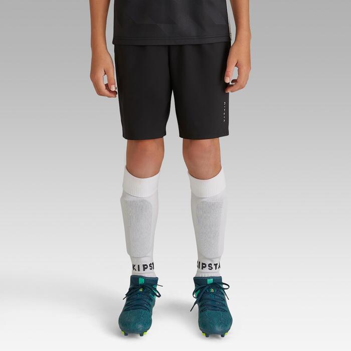 Voetbalshort F500 voor kinderen zwart