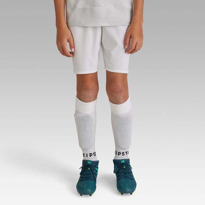 Pantalón corto de fútbol júnior F500 blanco