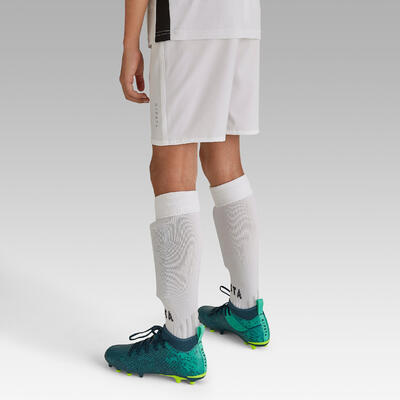 Short de football enfant F500 blanc