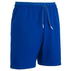 Pantalón corto de fútbol júnior F500 azul