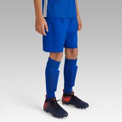 Pantalón corto de Fútbol júnior Kipsta F500 azul