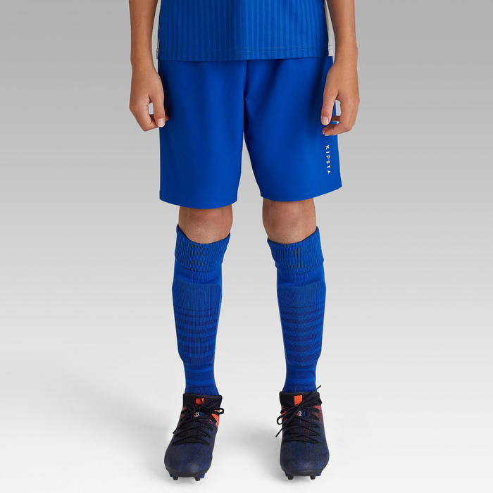 F500 Junior Football Shorts Blue