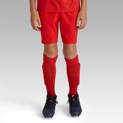 Pantalón corto de Fútbol júnior Kipsta F500 rojo