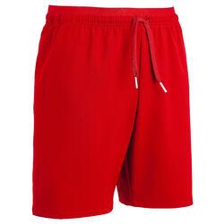 Pantalón corto de fútbol júnior F500 rojo