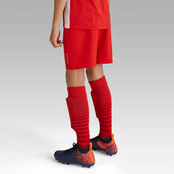 Voetbalshort voor kinderen F500 rood