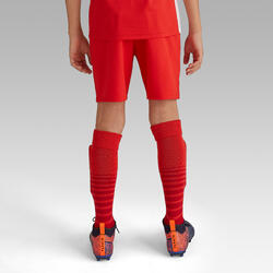 青少年款足球短褲F500-紅色