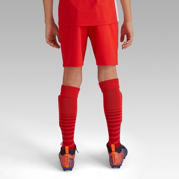 Fußballshorts F500 Kinder rot