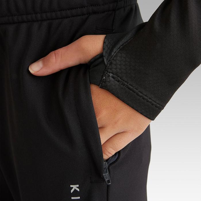 Pantalón de fútbol de entrenamiento júnior TP 900 negro y gris oscuro.