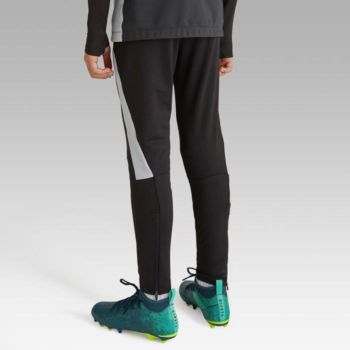 Pantalon de football d'entrainement enfant TP 900 noir et gris foncé.