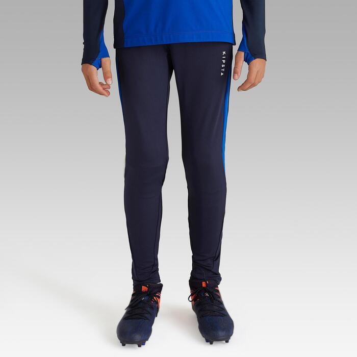 Pantalon de football d'entrainement enfant TP 900 marine et bleu indigo