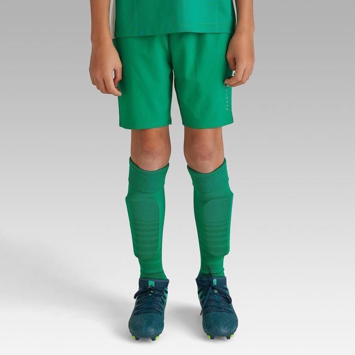 Pantalón corto de Fútbol júnior Kipsta F500 verde
