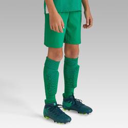 Voetbalshort voor kinderen F500 groen