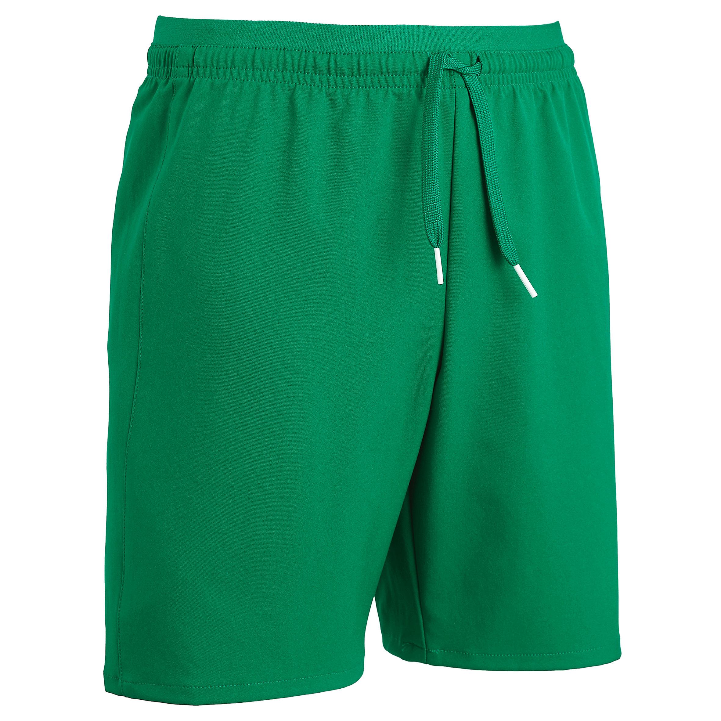 Şort Fotbal F500 Verde Copii