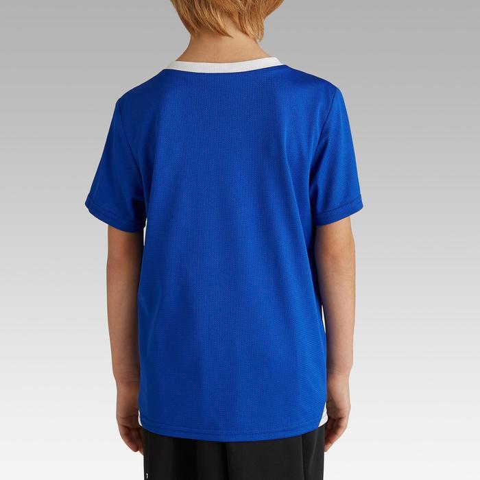 兒童款足球運動衫F100-牛仔藍
