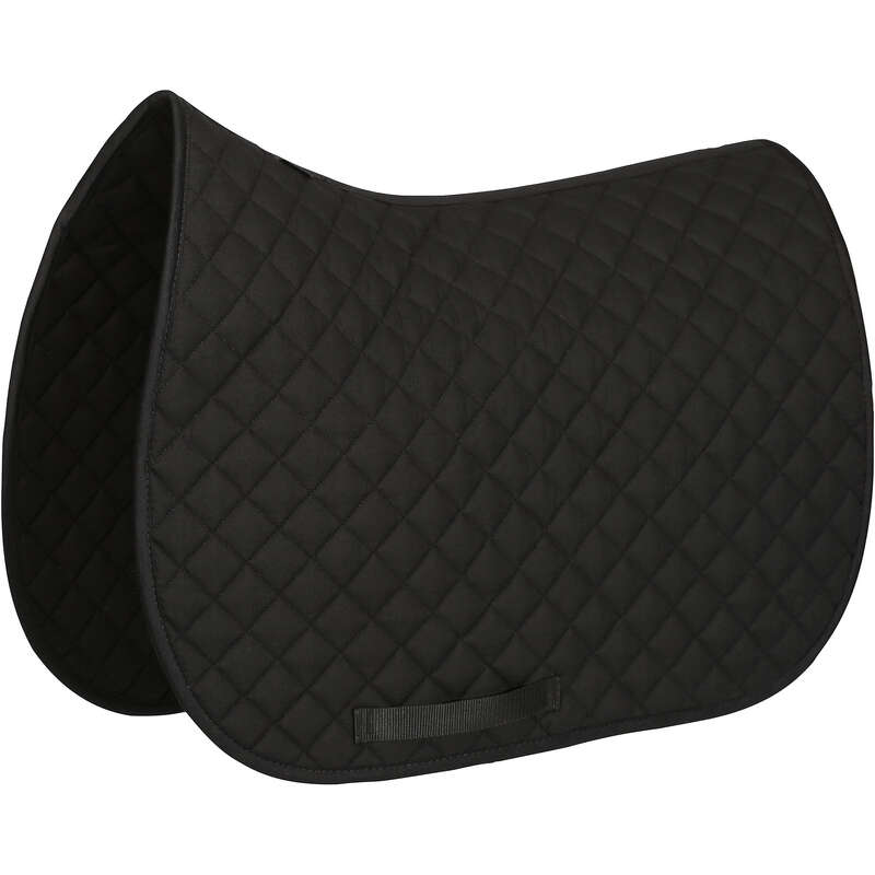HORSE SADDLE PADS Horse Riding - Schooling Saddle Cloth - Black FOUGANZA - Saddlery and Tack