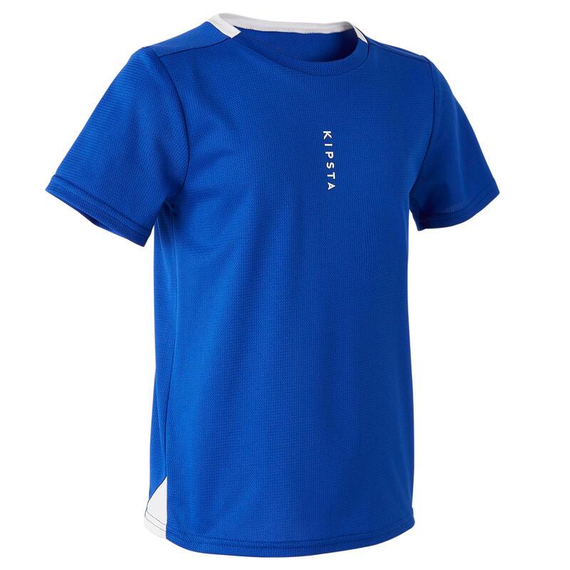 Camiseta de Fútbol Kipsta F100 niños azul índigo
