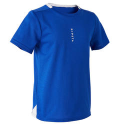 Camiseta de fútbol júnior F100 azul índigo