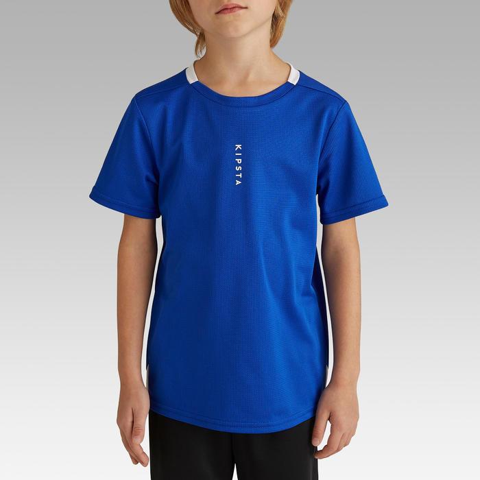 Maillot de football enfant F100 bleu indigo