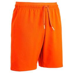 Pantalón corto de fútbol júnior F500 naranja