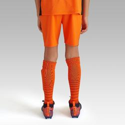 Fußballshorts F500 Kinder orange