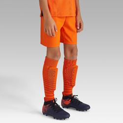兒童款足球短褲F500-橘色