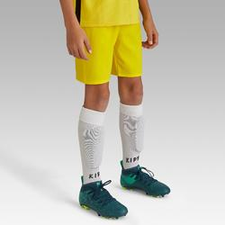 Voetbalshort F500 voor kinderen geel