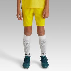 Short de football enfant F500 jaune