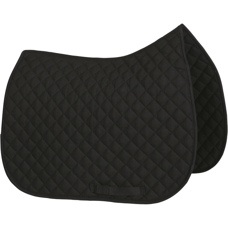 Schooling Horse Riding Saddle Cloth for Pony and Horse - Black
