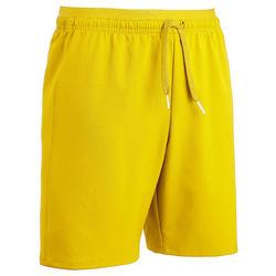 Pantalón corto de fútbol júnior F500 amarillo