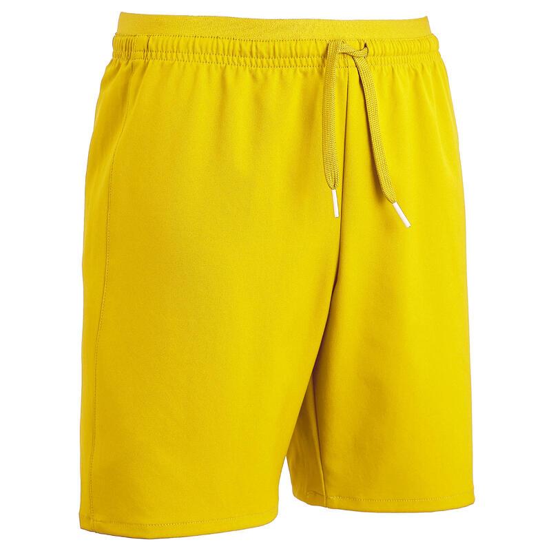 Short de football enfant F500 jaune