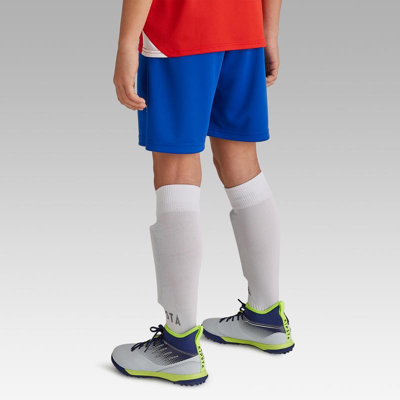 Short de fútbol niños F100 azul índigo
