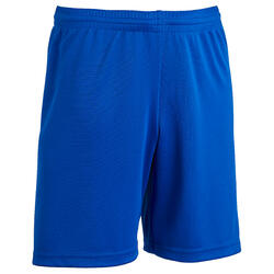 Short de football enfant F100 bleu indigo