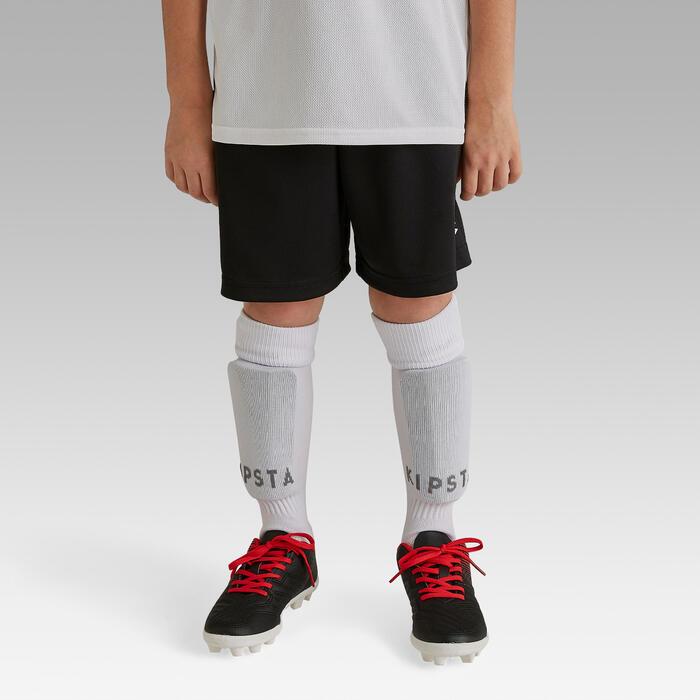 Fußballshorts F100 Kinder schwarz