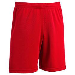 Fussballhose kurz F100 Kinder rot