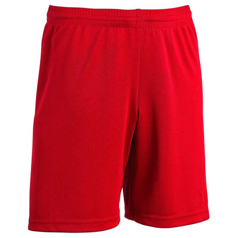 DĚTSKÉ OBLEČENÍ DO TEPLÉHO POČASÍ Fotbal - DĚTSKÉ KRAŤASY F100 ČERVENÉ KIPSTA - Fotbalové oblečení