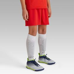 Short de football enfant F100 rouge