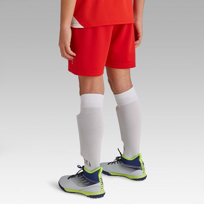 Pantalón corto de fútbol para niños F100 rojo