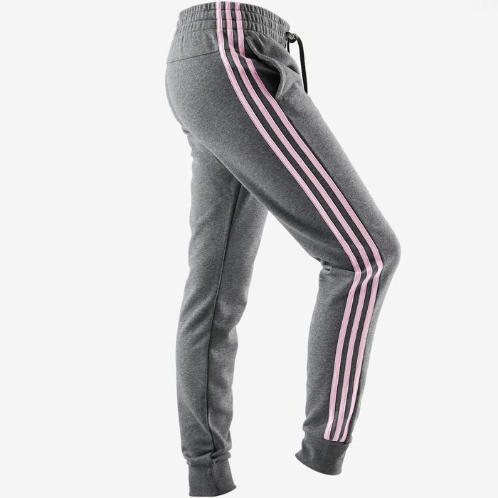 Jogginghose 3S 500 Pilates sanfte Gymnastik grau/rosa