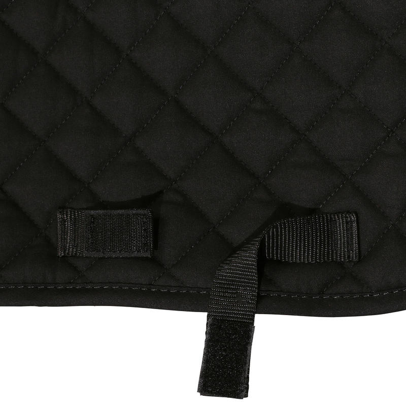 Schooling Horse Riding Saddle Cloth for Horse or Pony - Black