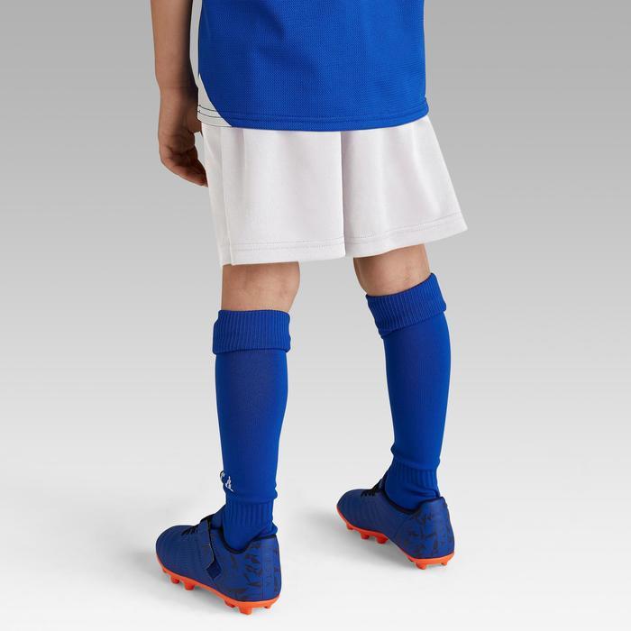 Pantalón corto de fútbol júnior F100 blanco